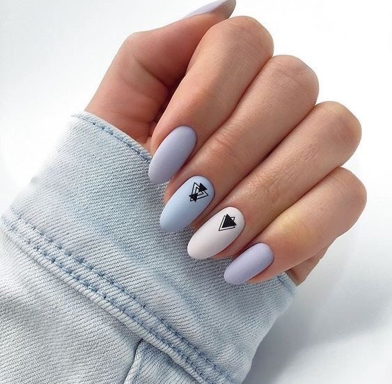 nail designs decorated geometric shapes