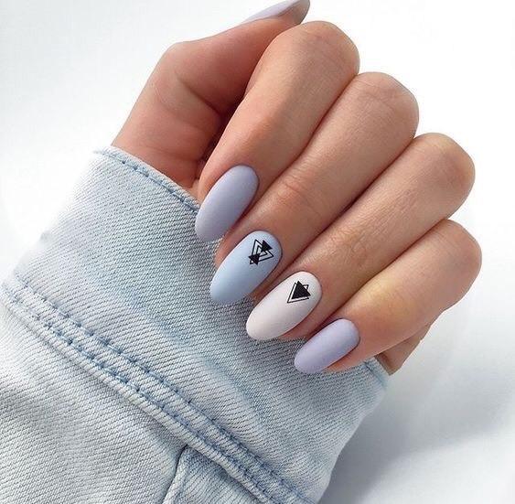 diseños de uñas decoradas formas geometricas