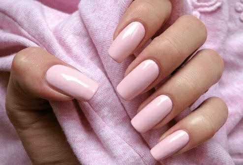 pastel pink decorated nail designs