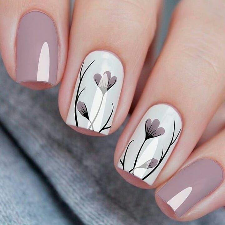 diseños de uñas decoradas tiernas - uñas cortas