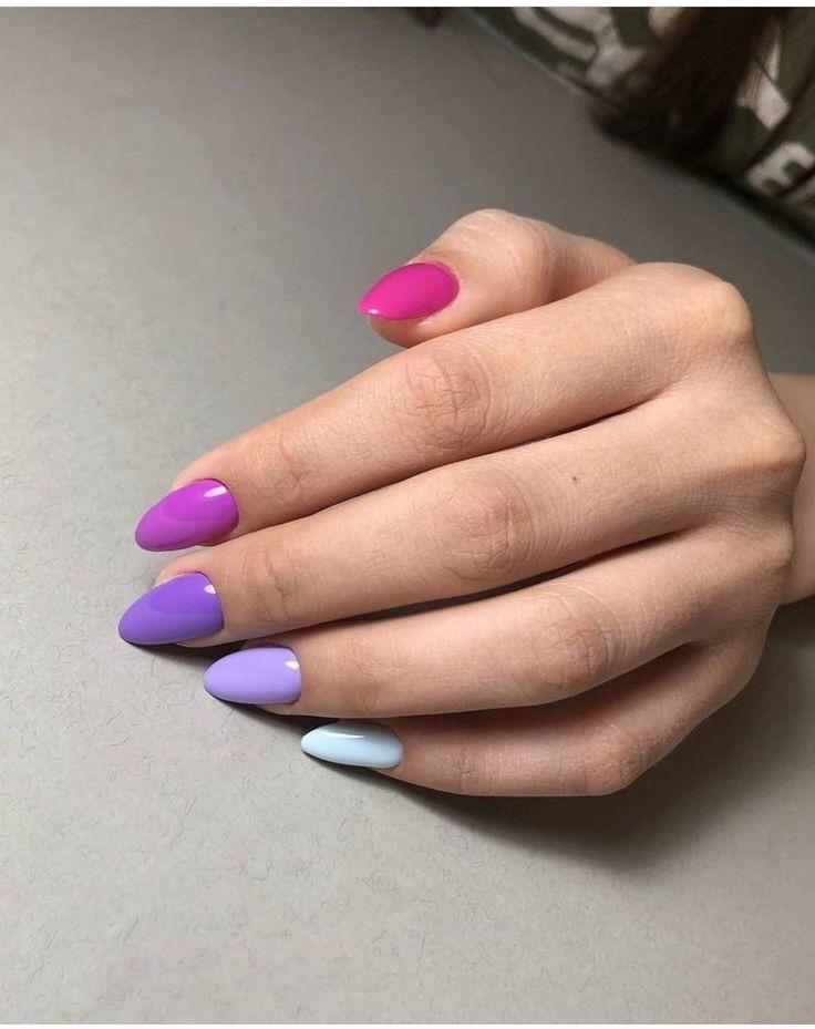diseños de uñas decoradas - uñas acoiris