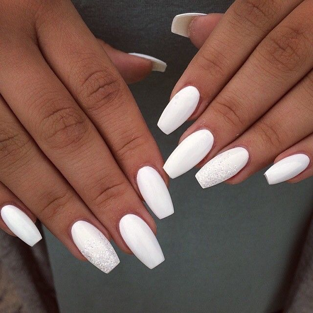 matte white nails nails kylie jenner - perfect nails - decorated nails - trendy nail designs -