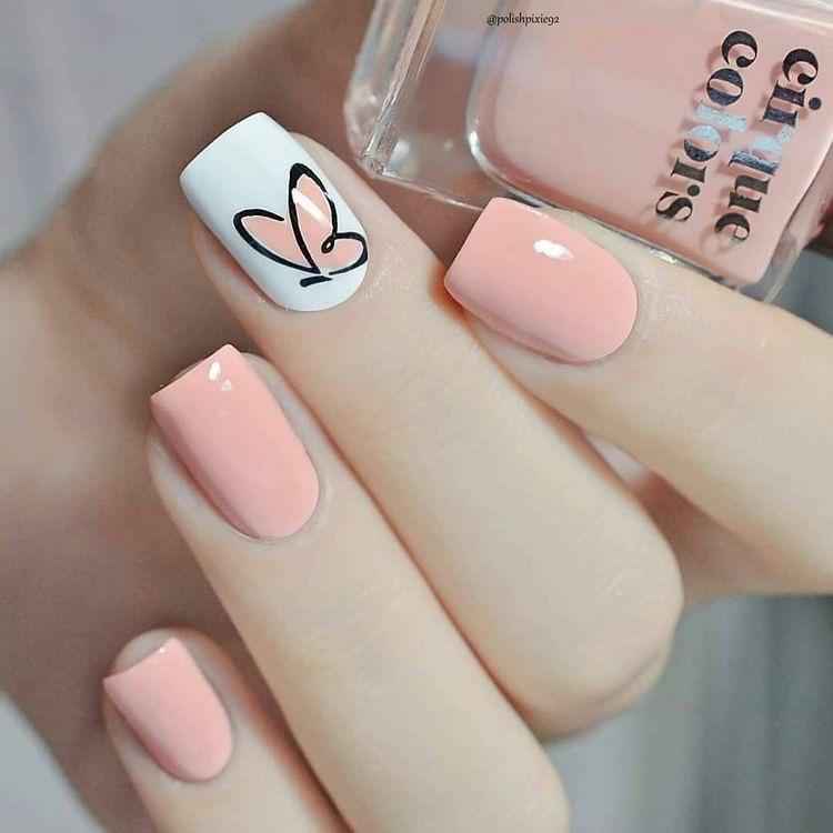 uñas cortas tiernas - diseños de uñas decoradas