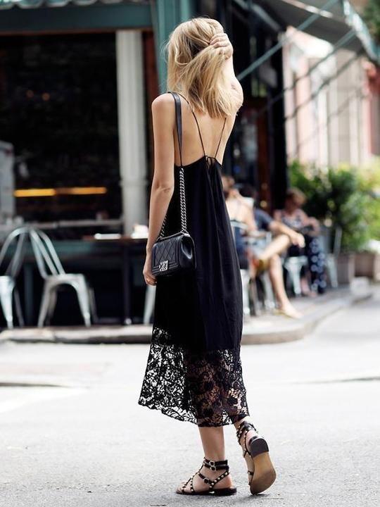 Vestido negro para verano cómodo