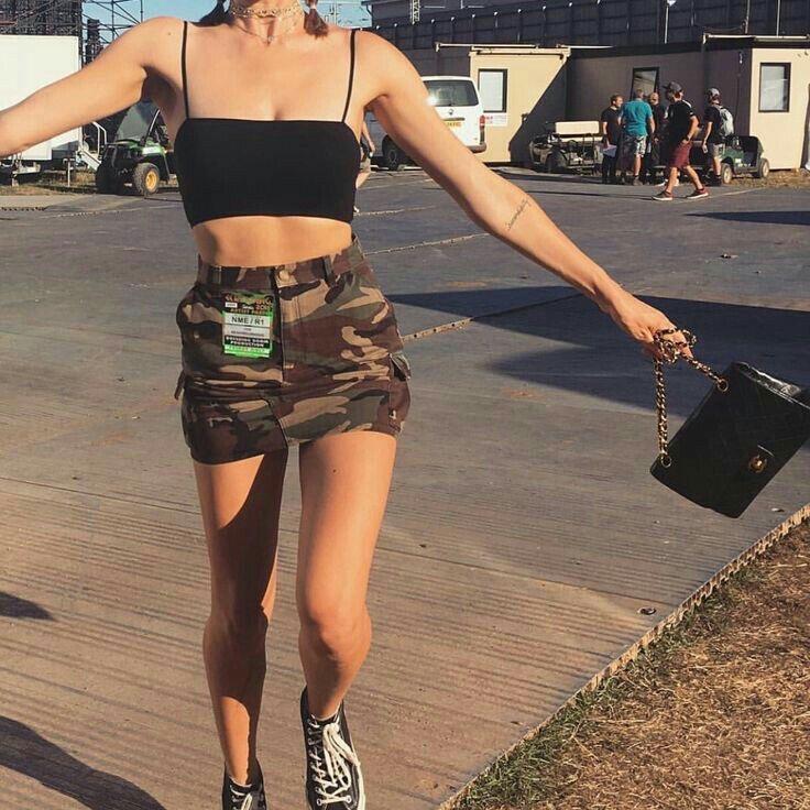falda army - falda militar - camuflaje - outfit militar -falda denim - mini falda - .falda de jeans- outfit para verano
