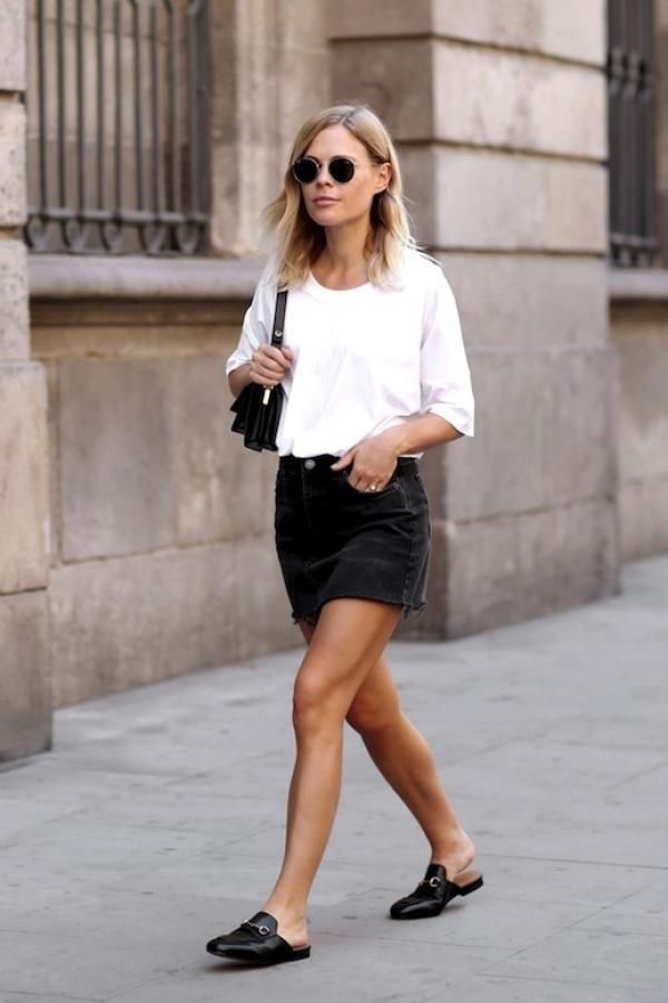 minifalda vaquera negra - outfit verano - ropa para verano mujer