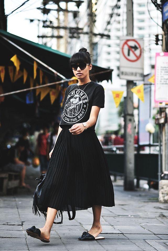 outfit negro - Vestido negro para verano cómodo