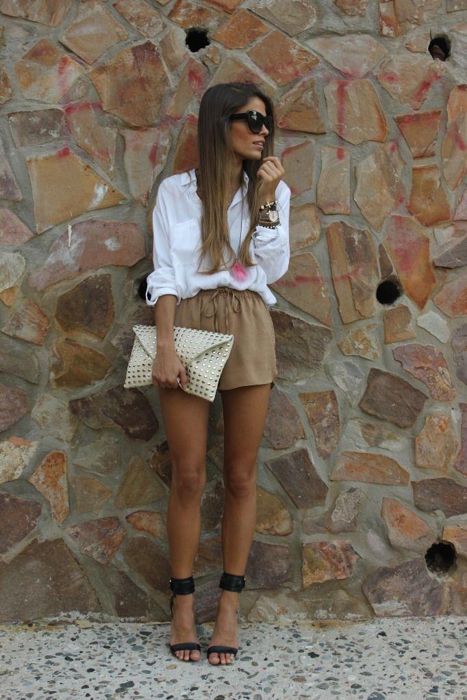 pantalones cortos con cintura paperbag, shorts de tela
