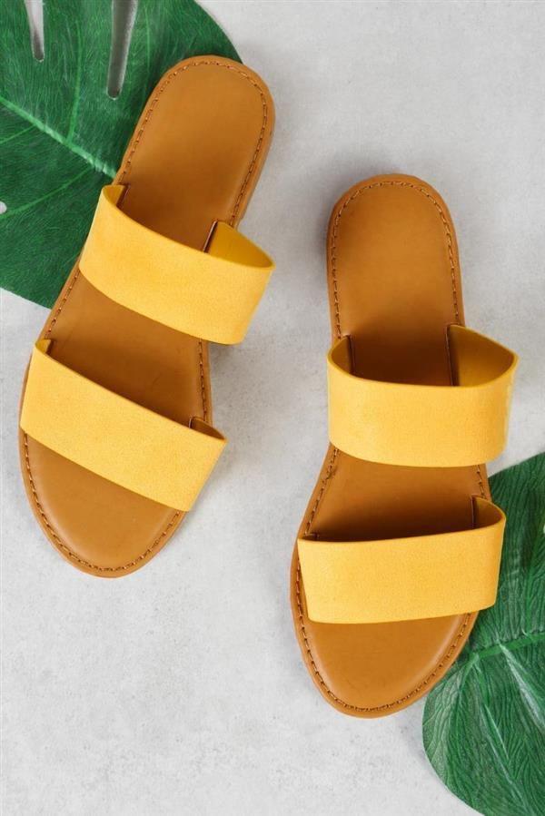 sandalias de verano mujer - moda verano - calzado veraniego- sandalias mujer amarillas