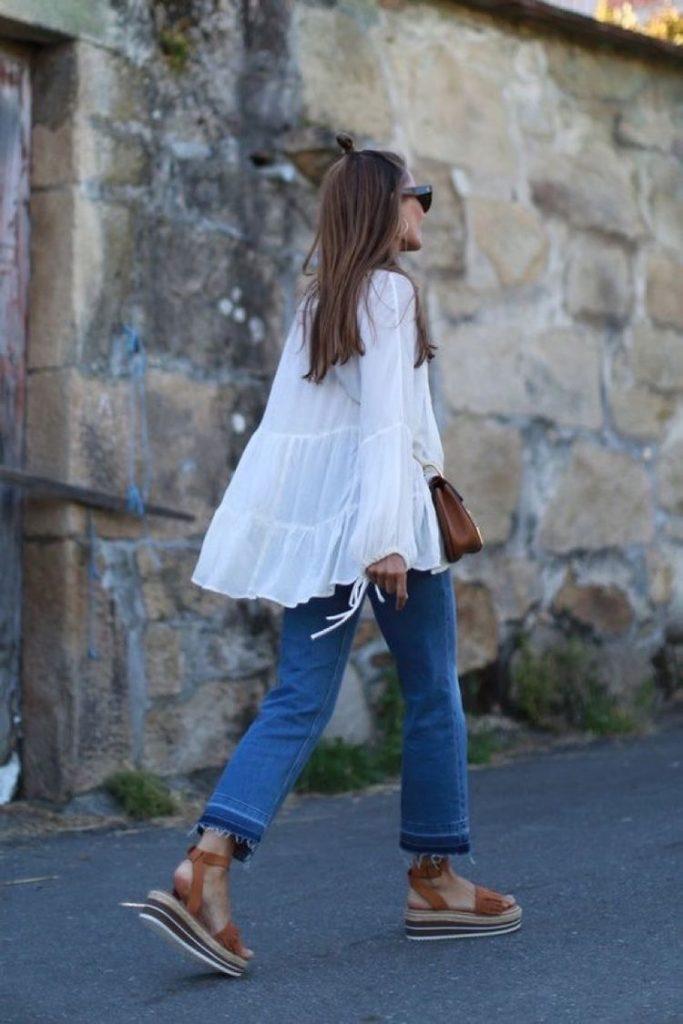 sandalias de verano mujer - moda verano - calzado veraniego- sandalias mujer stradivarius calle
