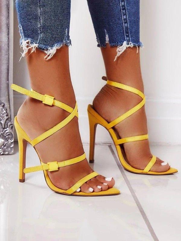 sandalias de verano mujer - moda verano - calzado veraniego- sandalias mujer tacon alto tiras