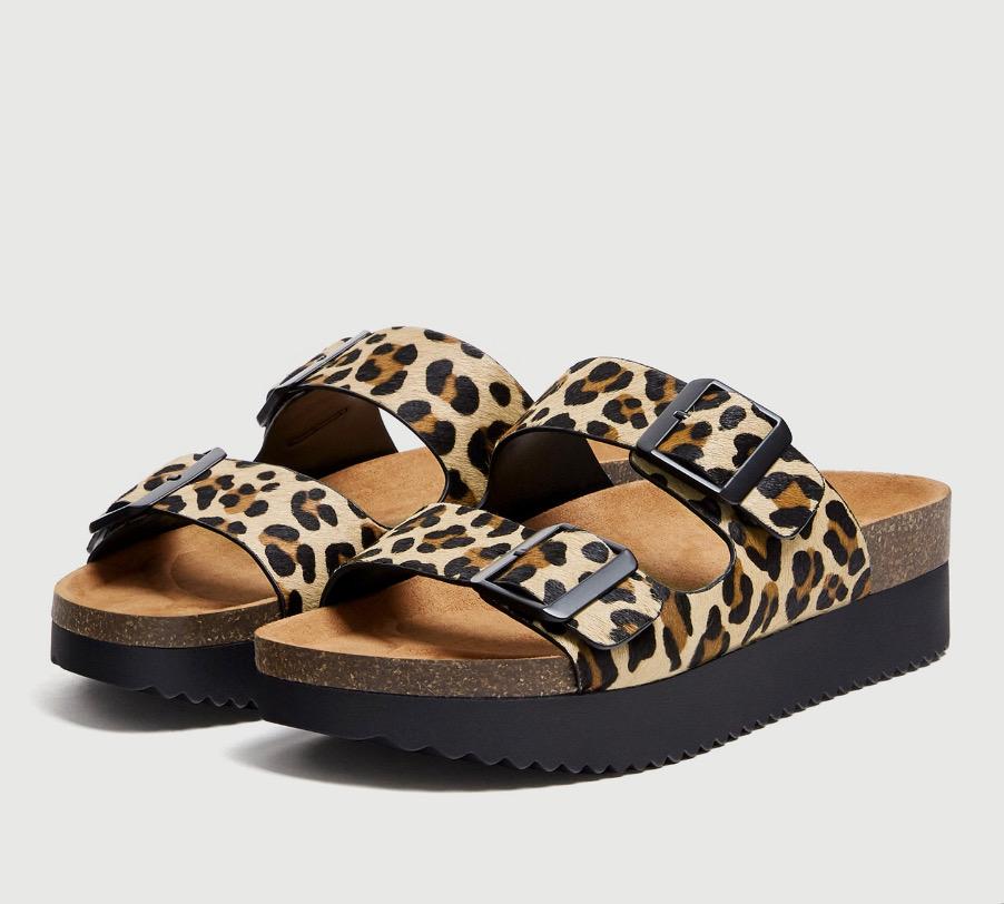 sandalias de verano mujer - moda verano - calzado veraniego- sandalias planas mujer animal print