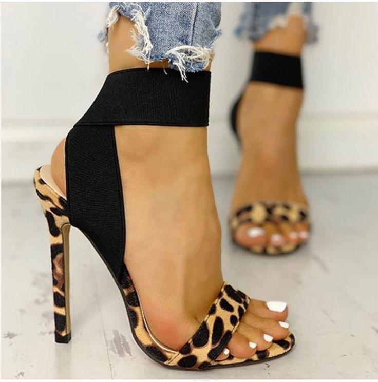 sandalias de verano mujer - moda verano - calzado veraniego- sandalias tacon alto animal print mujer