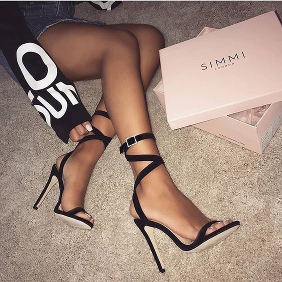 sandalias de verano mujer - moda verano - calzado veraniego- sandalias tacon alto negras mujer