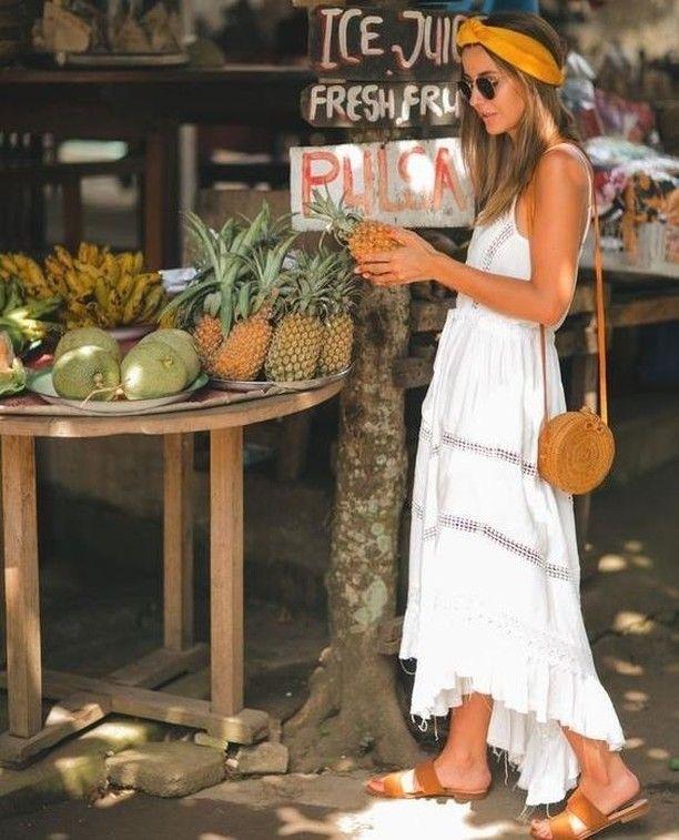 vestido blanco para verano - vestido blanco de mujer sin mangas