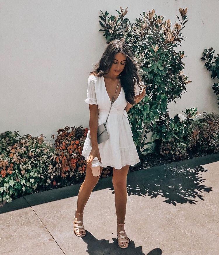 vestido blanco para verano - vestido blanco de mujer