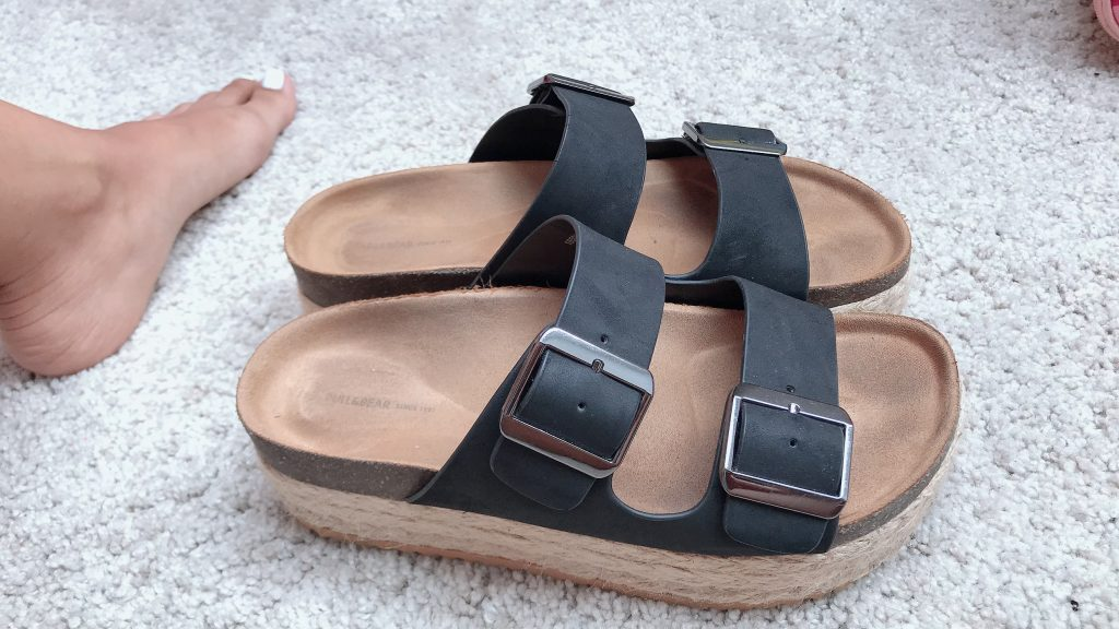 zuecos pull and bear - sandalias de verano