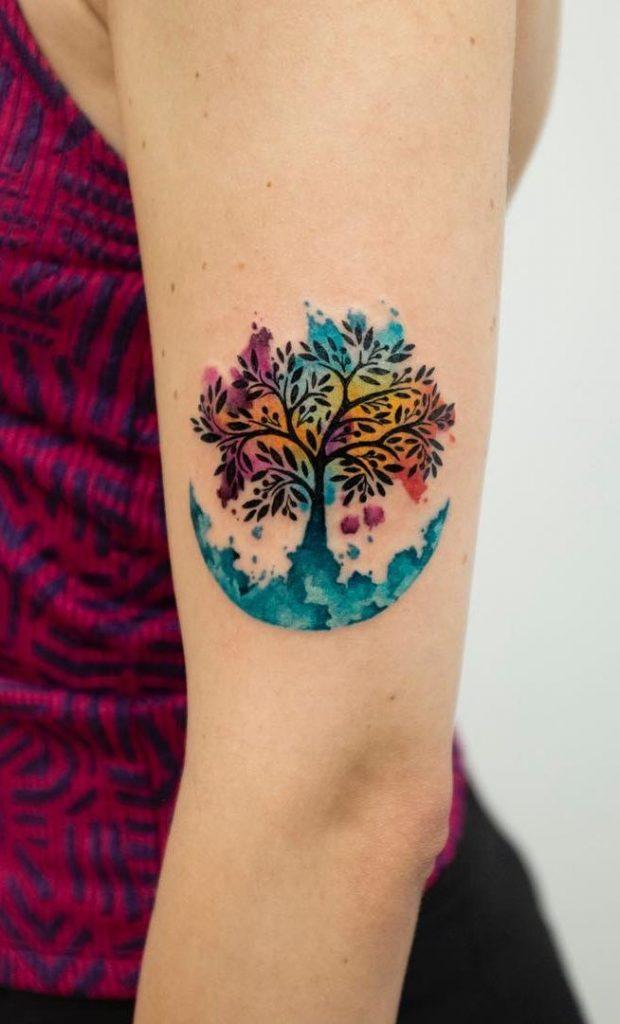 tatuaje arbol de la vida para mujer