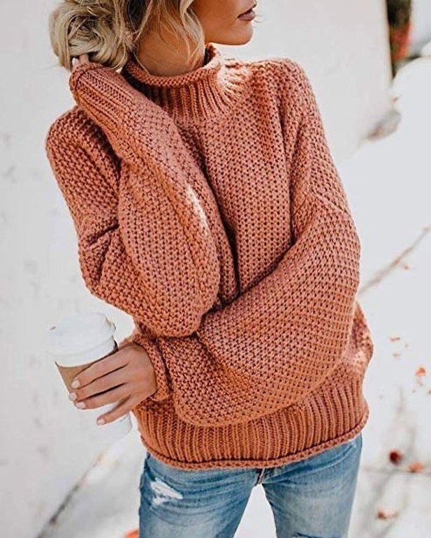 Abrigos tejidos otoño rosa