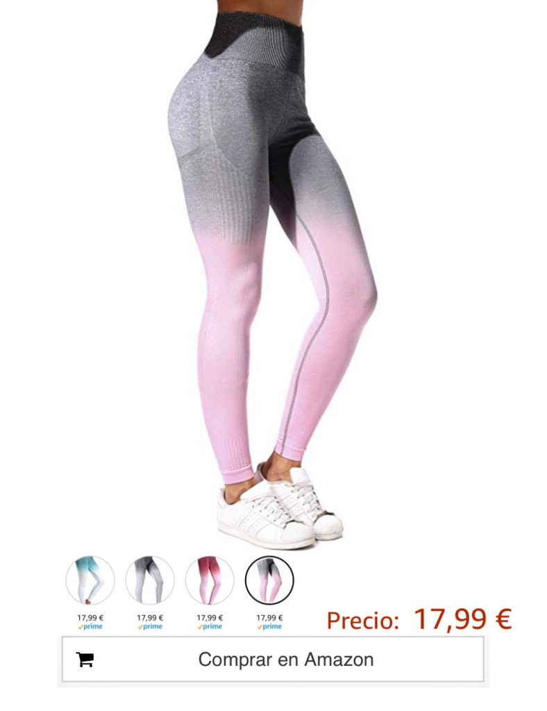 Mallas Leggings Mujer Pantalones Deportivos Yoga Alta Cintura Elásticos y Transpirables