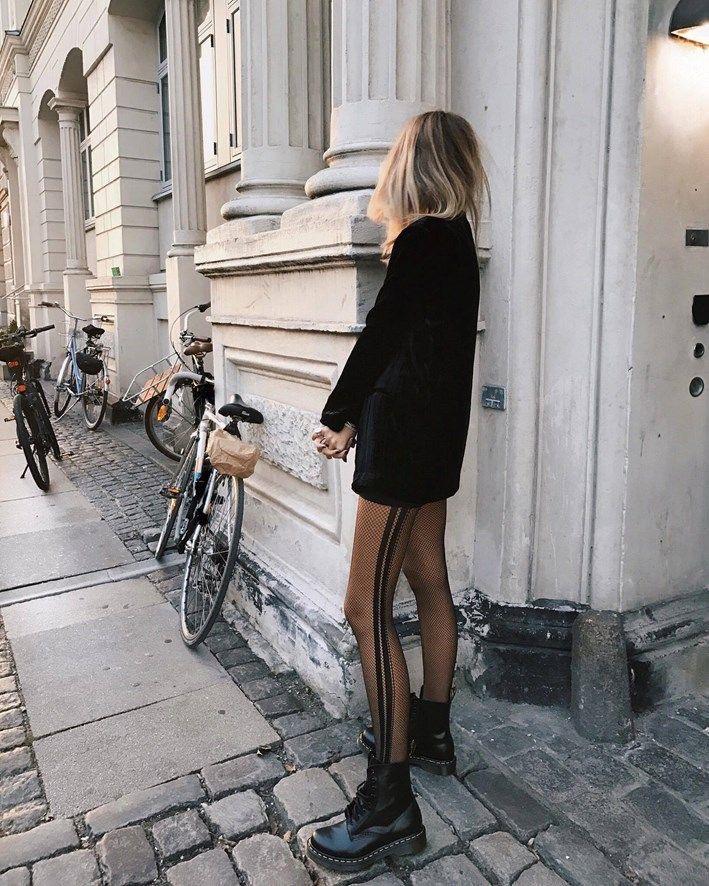 Medias panty con diseño otoño