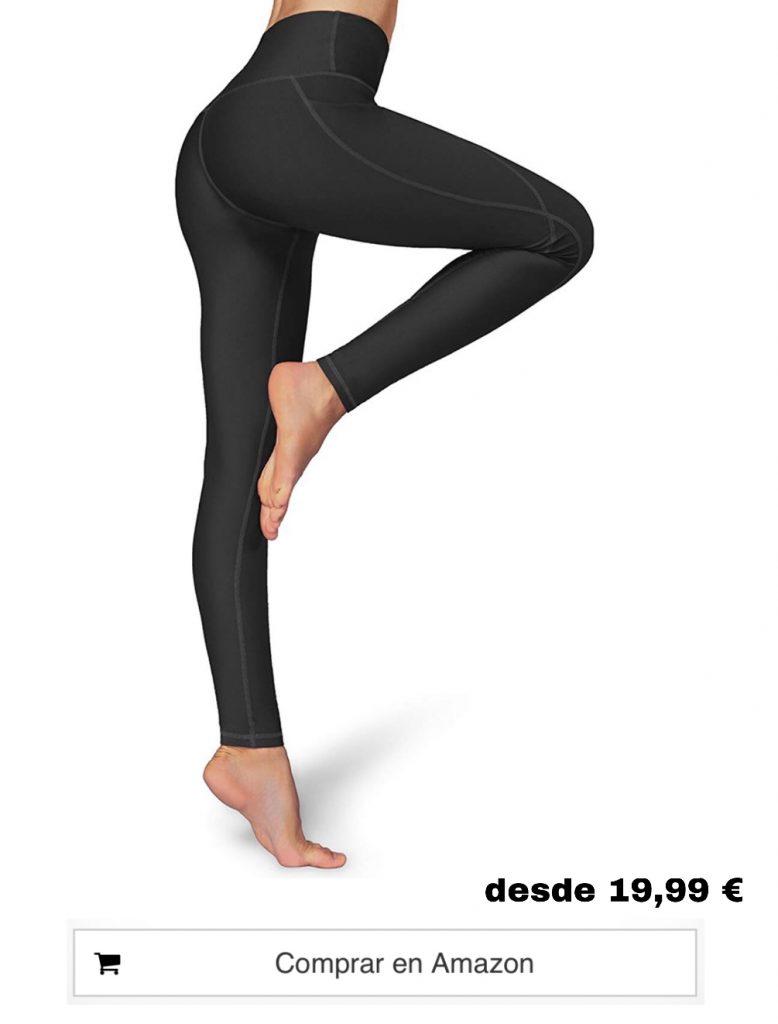 Occffy Leggings Mujer Deporte Cintura Alta Mallas Pantalones Deportivos Leggins con Bolsillos para Yoga Running Fitness y Ejercicio
