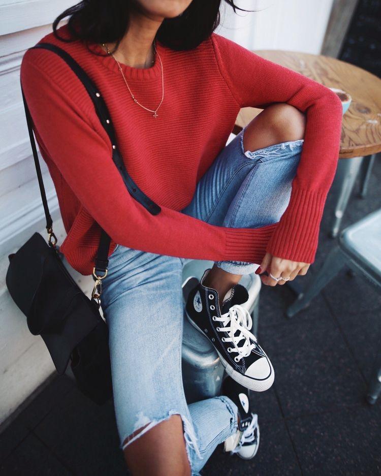 Outfits con converse negros