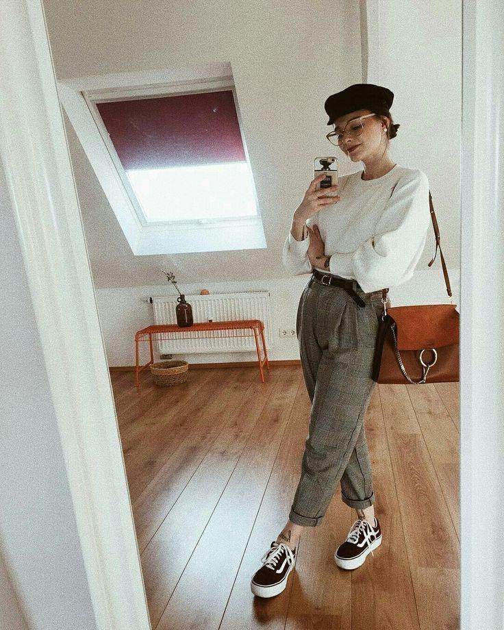 Pantalones anchos otoño - invierno 2019 gris