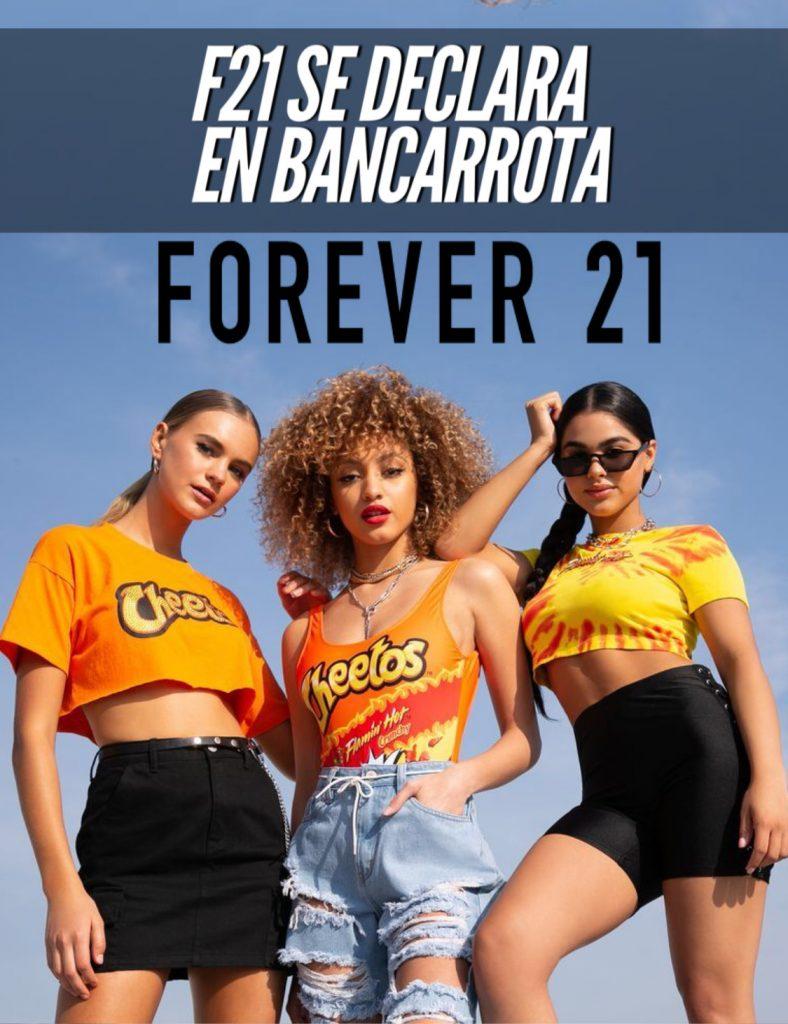 forever 21 se declara oficialmente en bancarrota