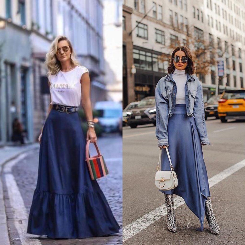 look falda vaquera larga - outfit denim falda larga larga - maxi falda de jeans.