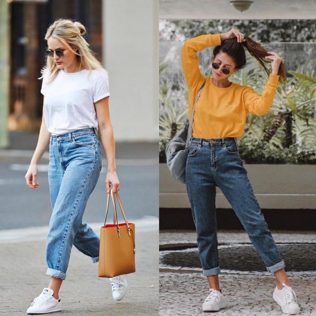 vaqueros clasicos - Outfits con vaqueros denim : look con blue jeans que te encantarán