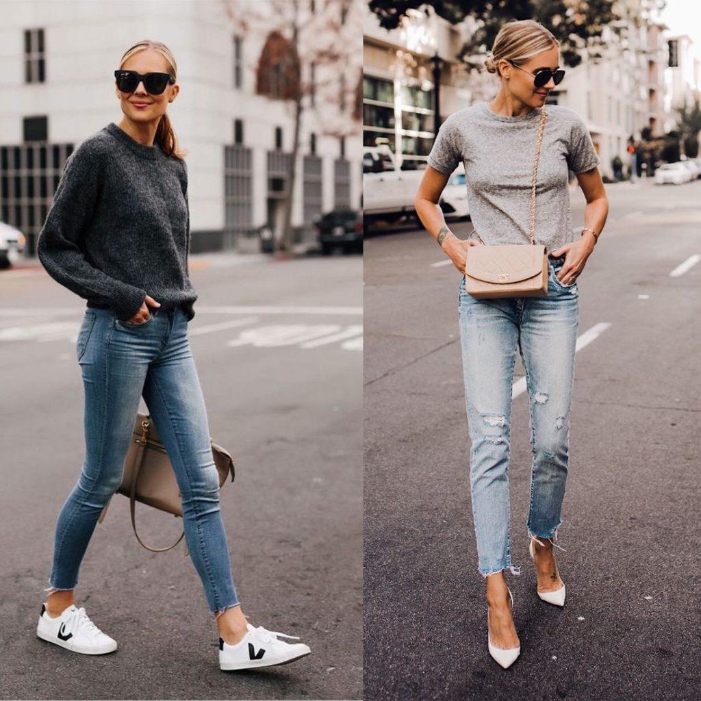 vaqueros skinny - pantalon tubo - Outfits con vaqueros denim : look con blue jeans que te encantarán. jpeg