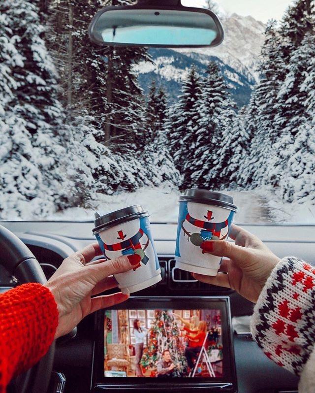 Navidad tumblr - Como hacer fotos originales para instagram de Navidad. en el coche nevando