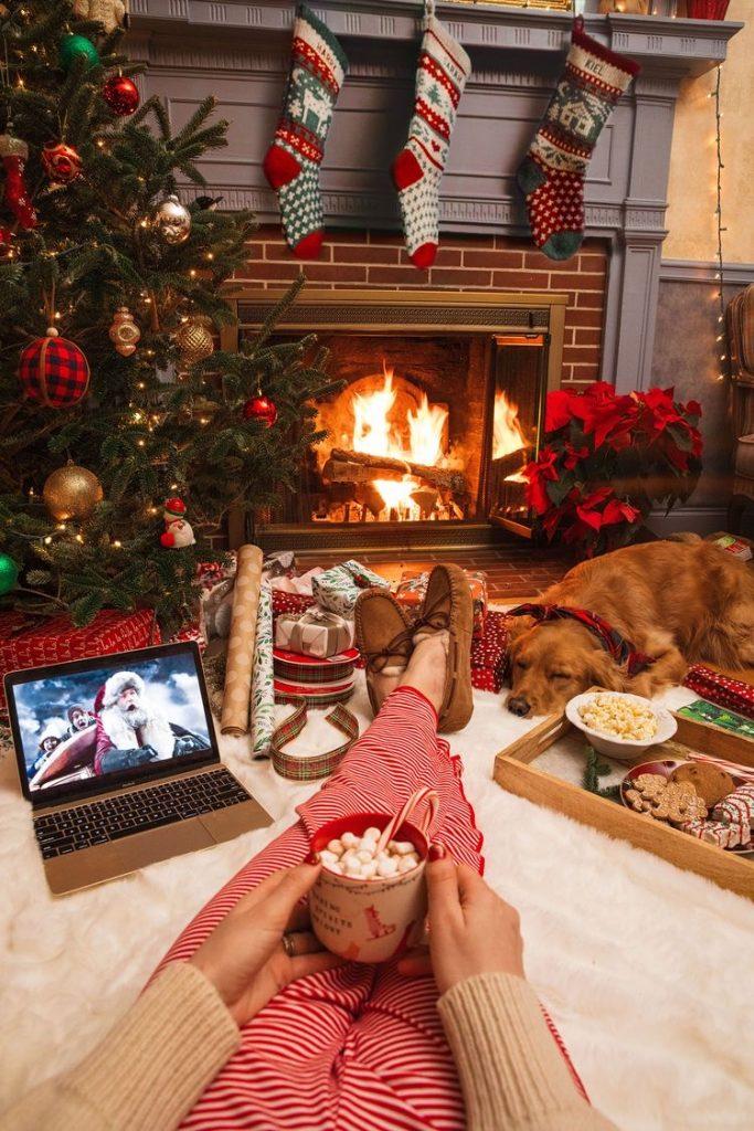Navidad tumblr - Como hacer fotos originales para instagram de Navidad. taza de chocolate