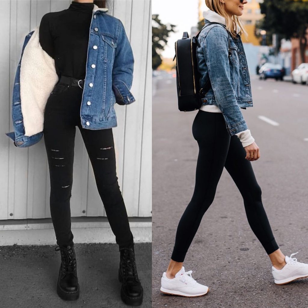 Outfit Denim Jacket : chaqueta denim invierno