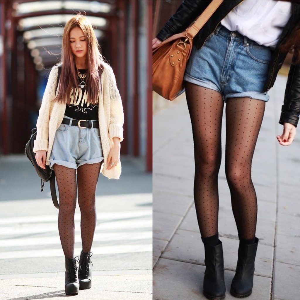 Outfits pantalones cortos : outfit denim short para otoño