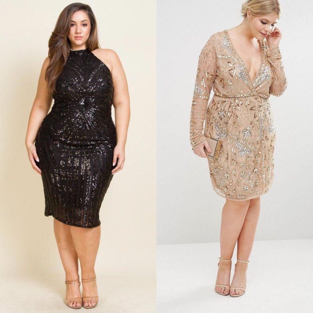 vestidos tallas grande nochevieja 2019 2020 - outfits noche vieja - vestidos fin de año