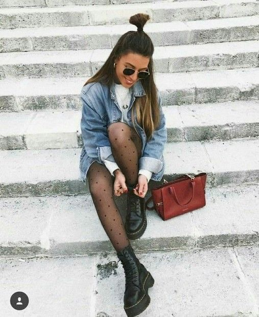 outfit botas blancas Outfit botas militares para mujer - outfit botas de combate - looks botas dr martens
