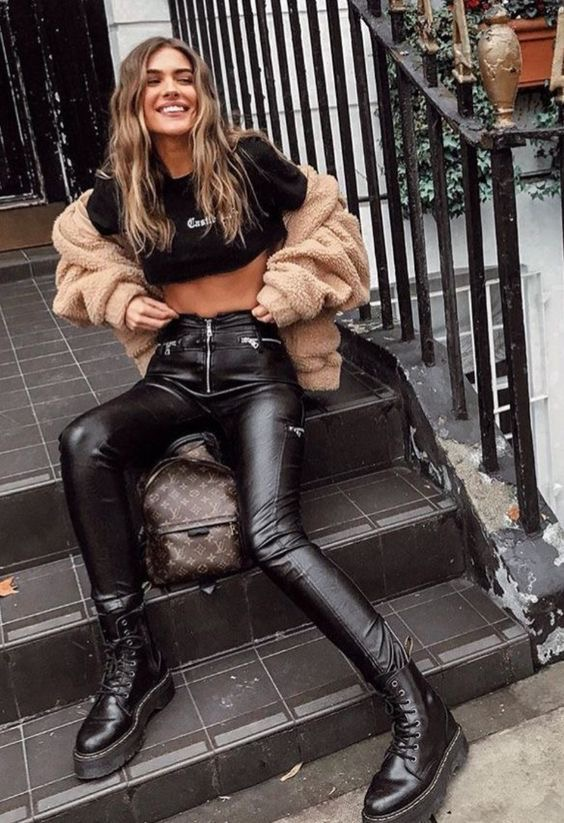 look otoño - Outfit botas militares para mujer - outfit botas de combate - looks botas dr martens