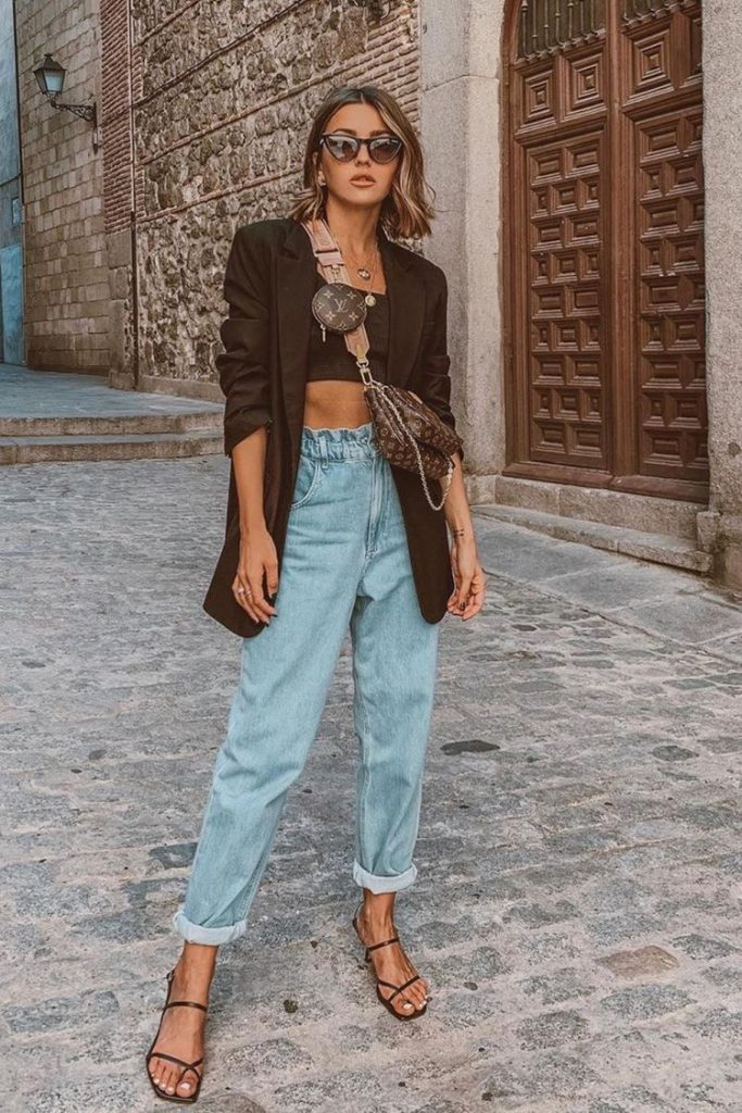 Slouchy jeans outfits chic - Slouchy jeans outfits vaqueros
