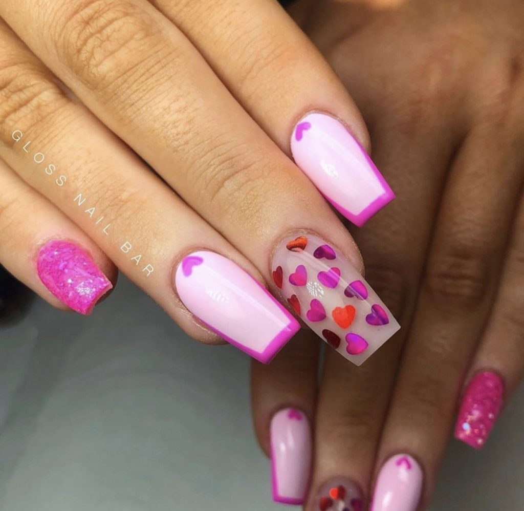 valentine's day nail design - Valentine's Day Nail Designs