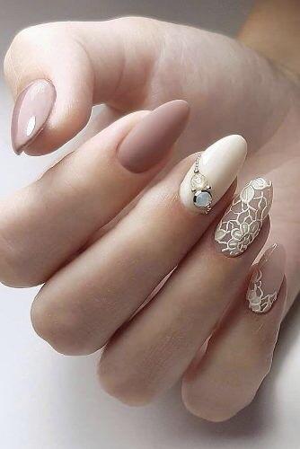 diseños de uñas para novias jóvenes,
