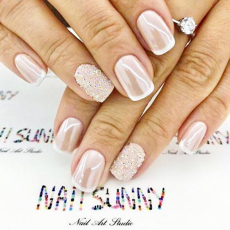 diseños de uñas para novias jóvenes