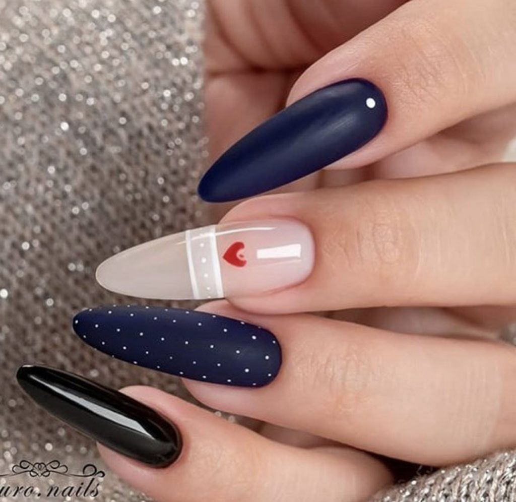 the most trendy nail design - Valentine's Day Nail Designs