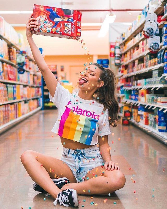 foto tumblr en el supermercado cereales
