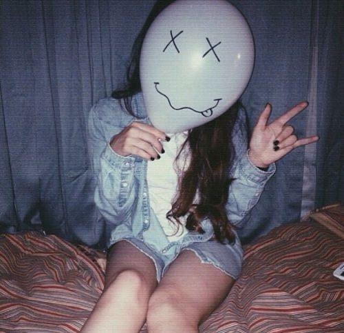fotos con globos en la cara - Poses tumblr sin mostrar la cara