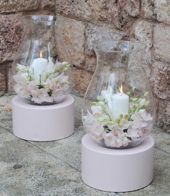 ideas para decoración de bodas - centros de mesa