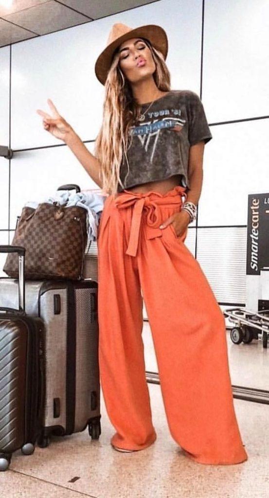 pantalones bota ancha, color marron . tendencia primavera verano - moda primavera