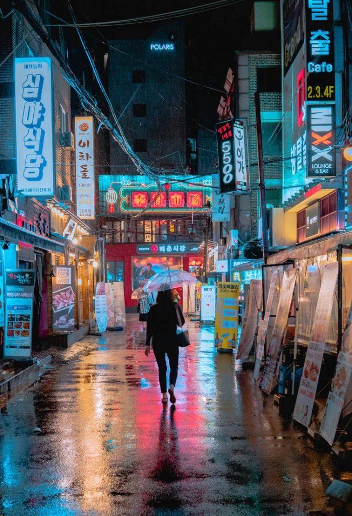 resultado de imagen para fotos tumblr en la calle de noche. - carteles luminosos