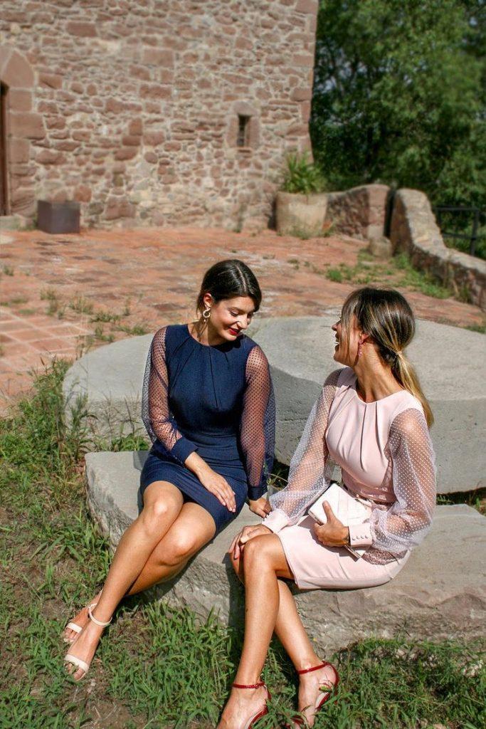 tendencia de mangas abollonadas - vestidos para madrinas de bodas